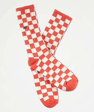 Vans Checkerboard II Emberglow Checker Crew Socks