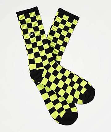 Vans Checkerboard II Sharp Green Crew Socks