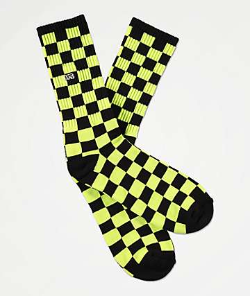Vans Checkerboard II Sharp Green Crew Socks