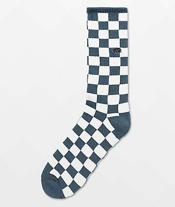 Vans Checkerboard II Stargazer & White Crew Socks
