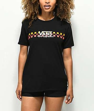 Vans Checkerboard Wrap camiseta negra