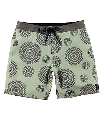 Vans Checkered Circle shorts de baño en verde claro