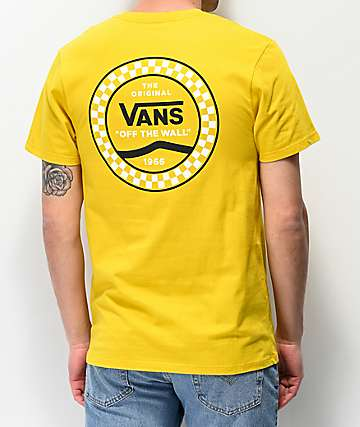 Vans Checkered Side Stripe Yellow T-Shirt