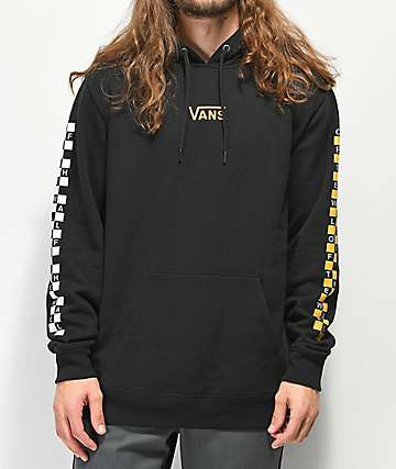 Vans Checkered Sleeve Black Hoodie