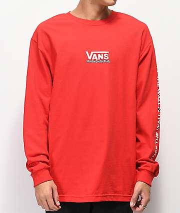Vans Checkmate III camiseta roja de manga larga