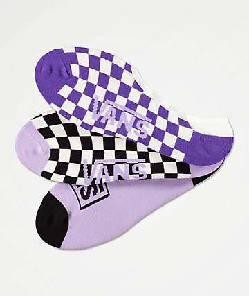 Vans Checks Out Canoodle 3 Pack No Show Socks