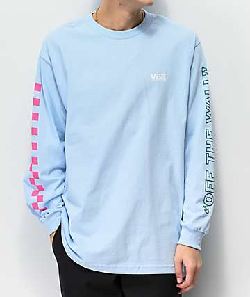 13f4457603f8f3 Vans Checkwork Blue Long Sleeve T-Shirt
