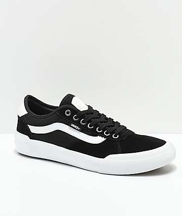 Vans Chima Pro 2 Black & White Suede Shoes