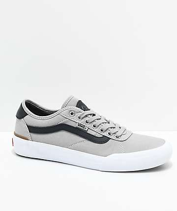 Vans Chima Pro 2 Drizzle, Black & White Skate Shoes