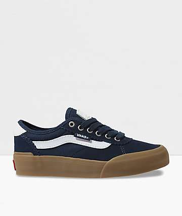 Vans Chima Pro 2 Navy, White & Gum Skate Shoes