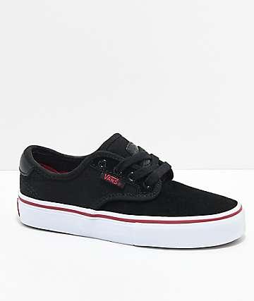 Vans Chima Pro Black, White & Chili Pepper Skate Shoes
