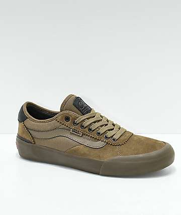 Vans Chima Pro II Cub Brown & Dark Gum Skate Shoes