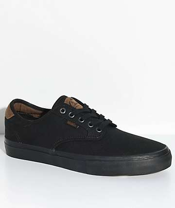 Vans Chima Pro Oxford Black Skate Shoes