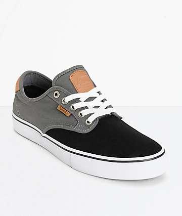 Vans Chima Pro zapatos de skate en negro y gris (hombre)