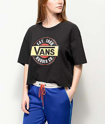 Vans Chromo Black Crop T-Shirt