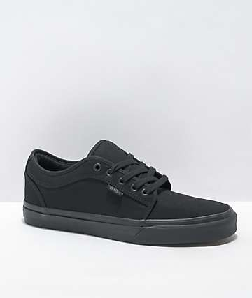 2e0dabbd70ed64 Vans Chukka Low Black Mono Canvas Skate Shoes