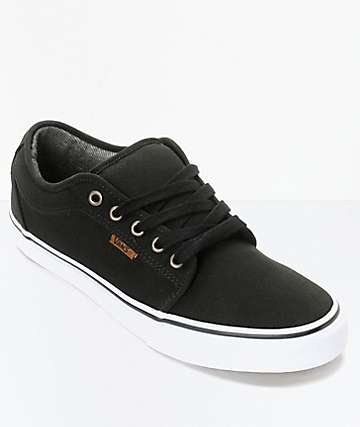 Vans Chukka Low Canvas Black & White Skate Shoes