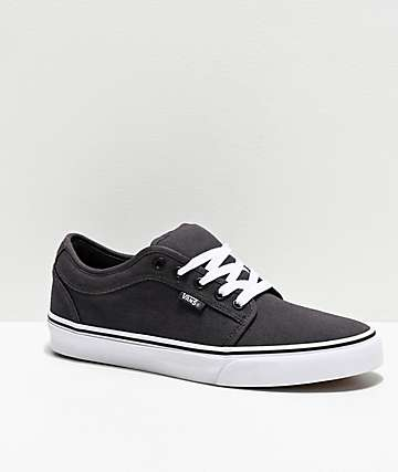 Vans Chukka Low Obsidian & White Skate Shoes