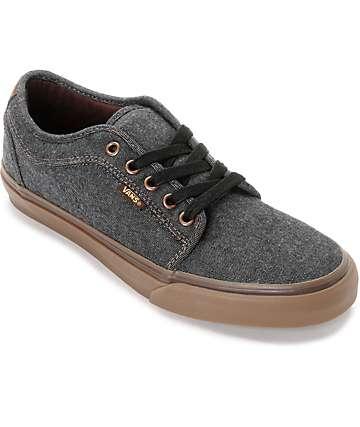 Vans Chukka Low Oxford zapatos de skate en negro y goma
