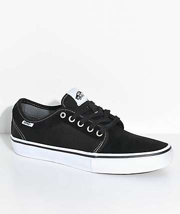 Vans Chukka Low Pro Black, White, Suede & Canvas Skate Shoes