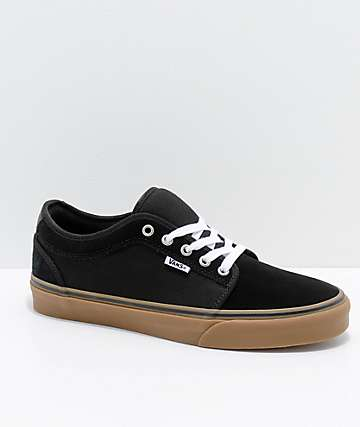 Vans Chukka Low Pro Black & Gum Skate Shoes