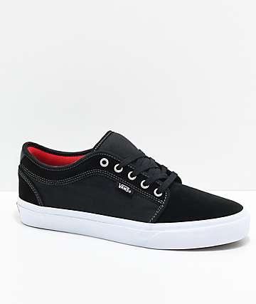 Vans Chukka Low Pro Chili Pepper zapatos de skate en negro y blanco