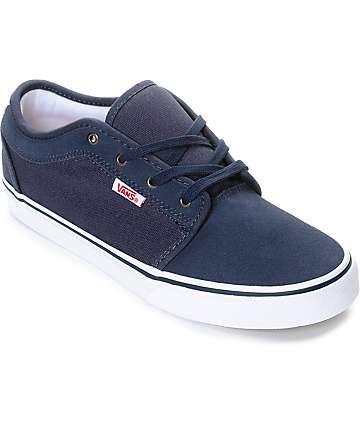 Vans Chukka Low zapatos en azul marino, rojo y blanco para niños