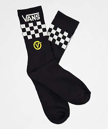 Vans Circle Black Crew Socks