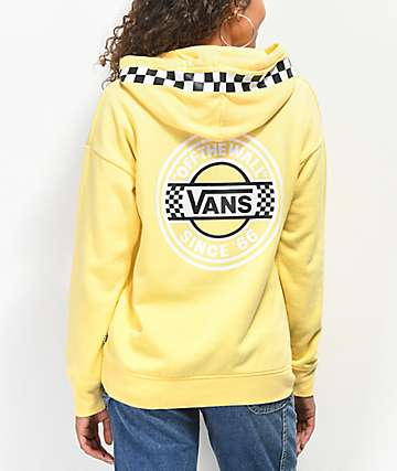 Vans Circle Checkerboard Yellow Hoodie