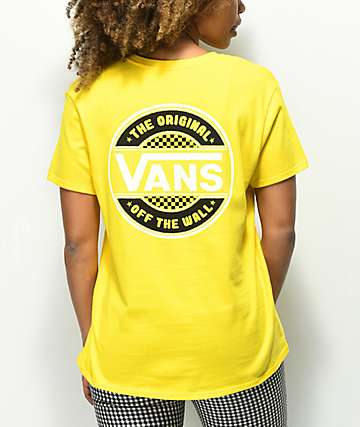 Vans Circle Checkerboard Yellow T-Shirt