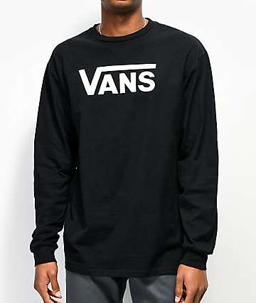 Vans Classic Black Long Sleeve T-shirt