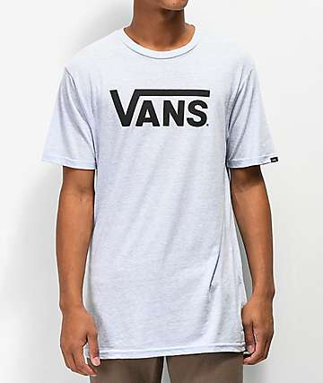 Vans Classic Light Heather Blue & Black T-Shirt