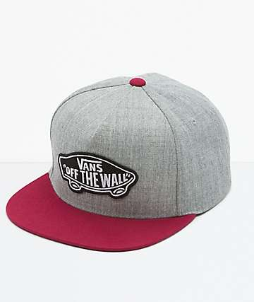 Vans Classic Patch Grey & Red Snapback Hat