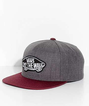 Vans Classic Patch Heather Black & Port Snapback Hat