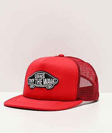 Vans Classic Patch Red Snapback Trucker Hat