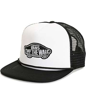 Vans Classic Patch White & Black Trucker Hat