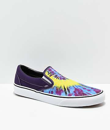 441380f3f4 Vans Classic Slip-On Misterio Tie Dye Skate Shoes