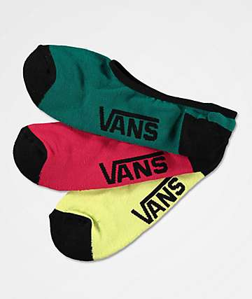 Vans Classic Sunny Lime 3 Pack Super No Show Socks