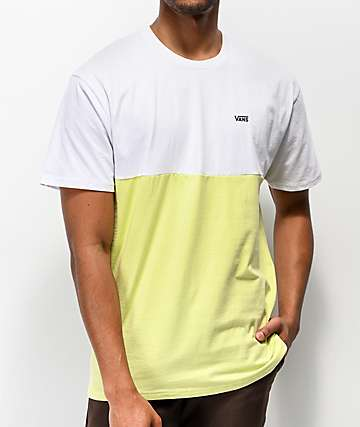 Vans Colorblock White & Lime T-Shirt
