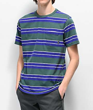 Vans Continental Green & Purple Striped T-Shirt