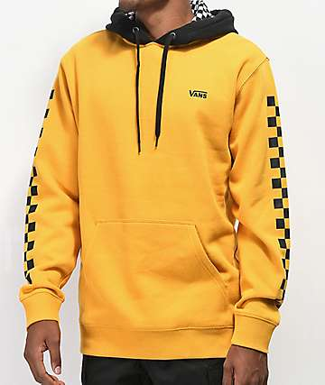 fb8c1ea87b Vans Contrasting Checkered Gold   Black Hoodie