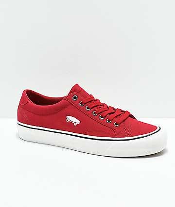 Vans Court Icon zapatos de skate en rojo y blanco