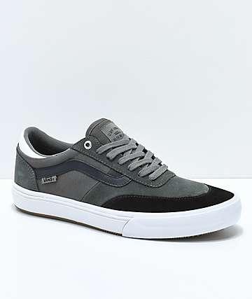 Vans Crockett 2 Gunmetal, zapatos de skate en negro y blanco