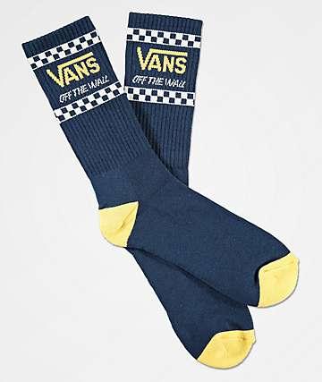 Vans Crossed Sticks Navy Crew Socks