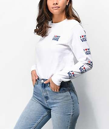Vans DNA White Long Sleeve T-Shirt