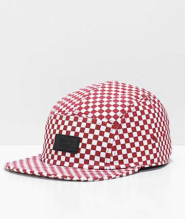 Vans Davis Red & White 5 Panel Hat