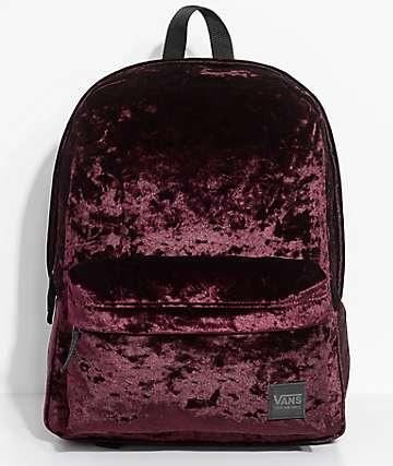 Vans Deana II Burgundy Velvet 22L Backpack