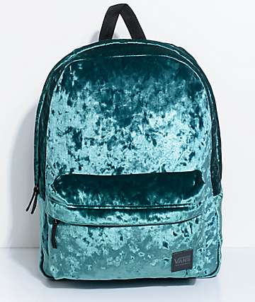 Vans Deanna Jade Green Velvet 22L Backpack