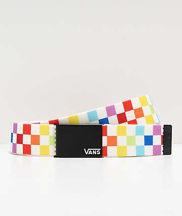 Vans Deppster Rainbow Checkerboard Web Belt