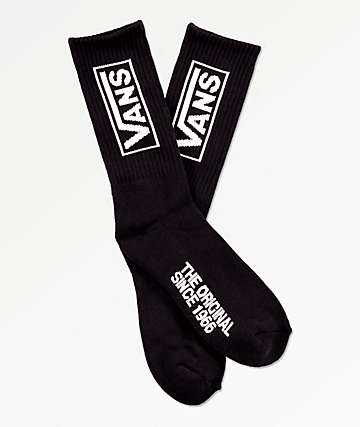 Vans Distort Black Crew Socks